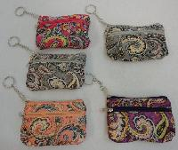 "5""x3.25"" Two-Compartment Zippered Change Purse [Tiger]"